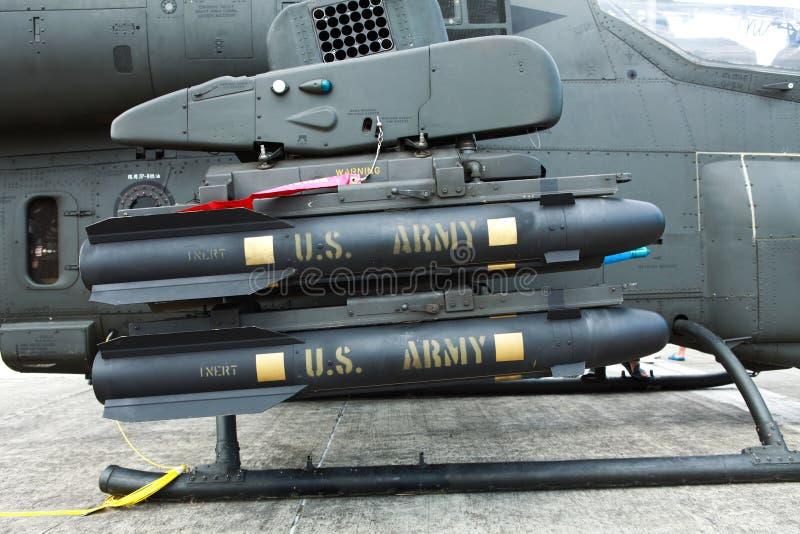 Mísseis anti-tank do Hellfire fotografia de stock