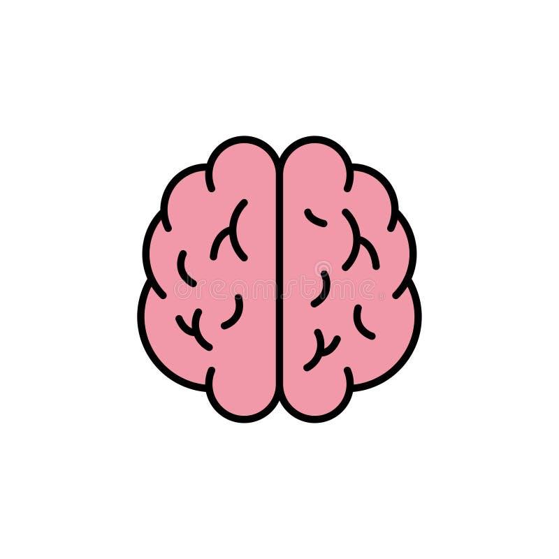 Móżdżkowa ikona Kreatywnie pomysłu symbol brainstorm również zwrócić corel ilustracji wektora royalty ilustracja