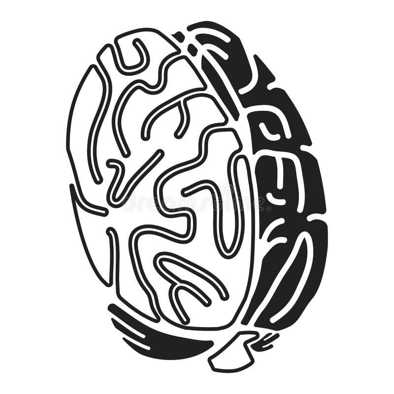 Móżdżkowa pojęcie ikona, prosty styl ilustracji