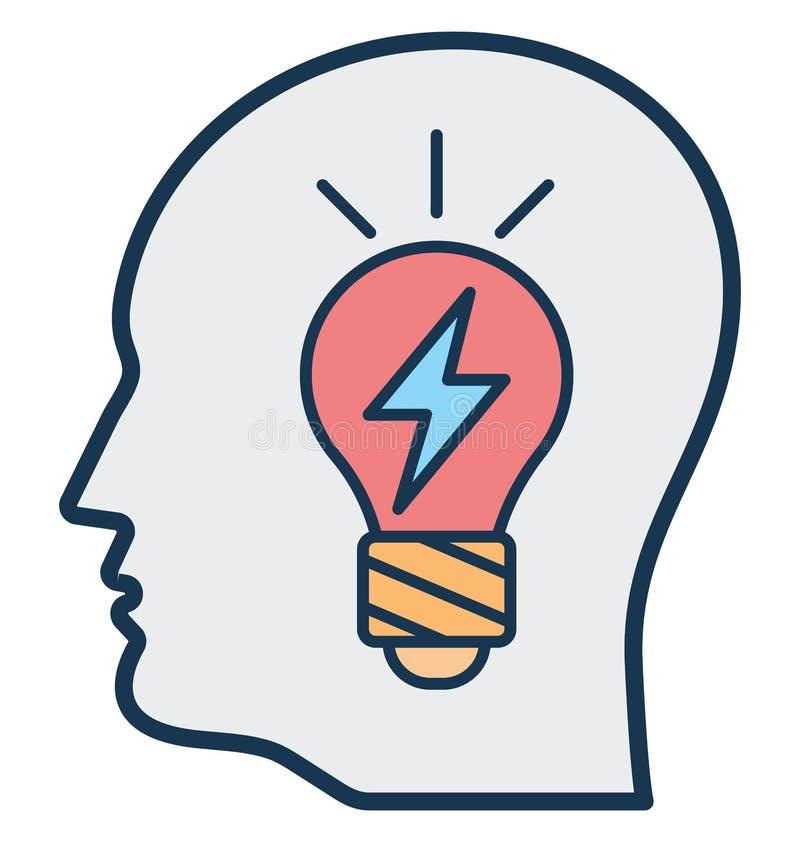 Móżdżkowa władza, Brainstorming Odosobnioną Wektorową ikonę może być łatwo redaguje i modyfikuje royalty ilustracja