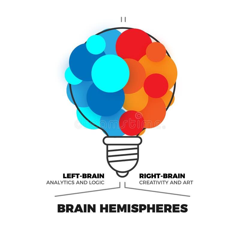 Móżdżkowe hemisfery wektorowe ilustracja wektor