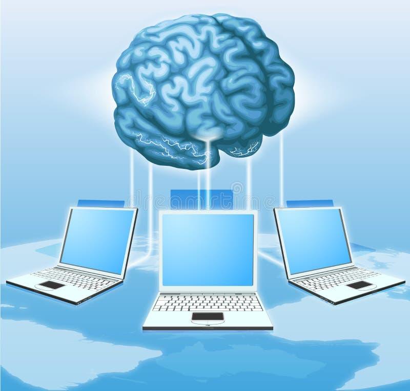 móżdżkowy komputerowy target2376_0_ pojęcie ilustracji