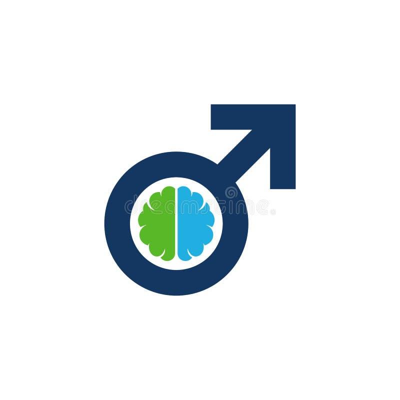 Móżdżkowy Męski mężczyzna loga ikony projekt royalty ilustracja