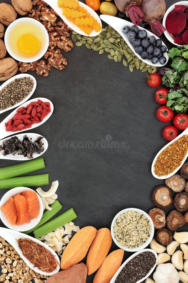 Móżdżkowy Reklamiarski zdrowia jedzenie zdjęcia stock