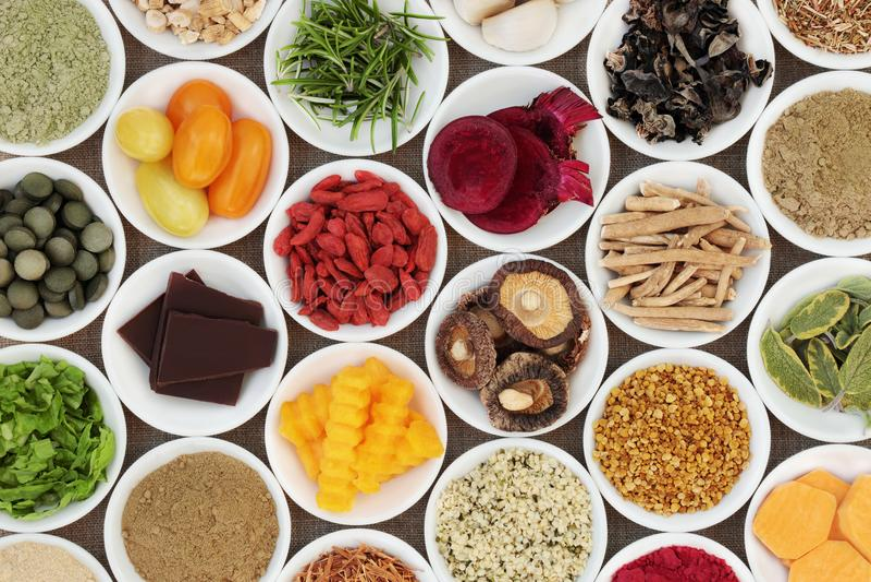 Móżdżkowy Reklamiarski zdrowia jedzenie fotografia royalty free