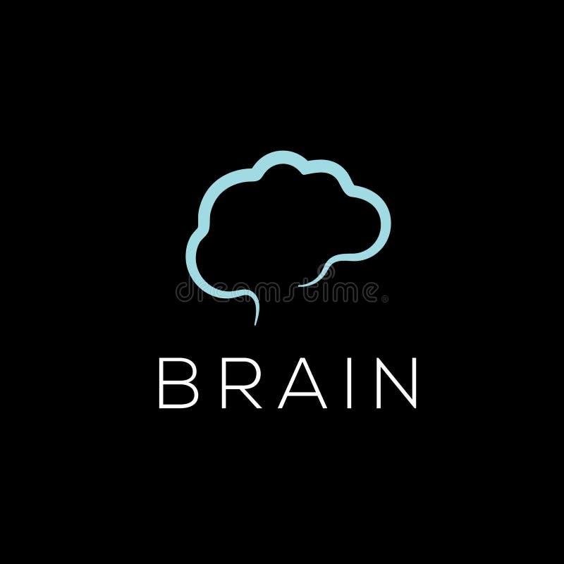 Móżdżkowy wektorowy logo Móżdżkowa ikona Brainstorming emblemat ilustracja wektor