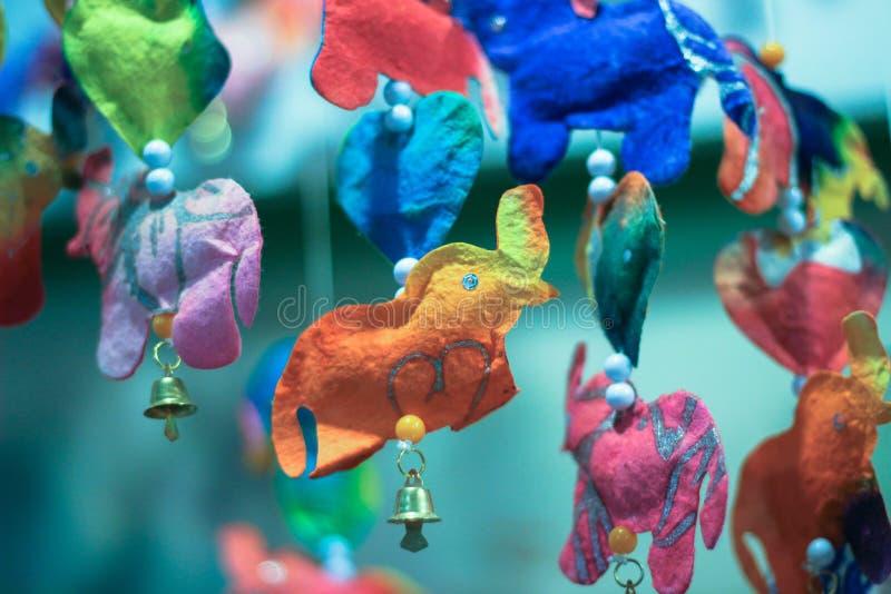 Móbil da boneca do elefante imagem de stock royalty free