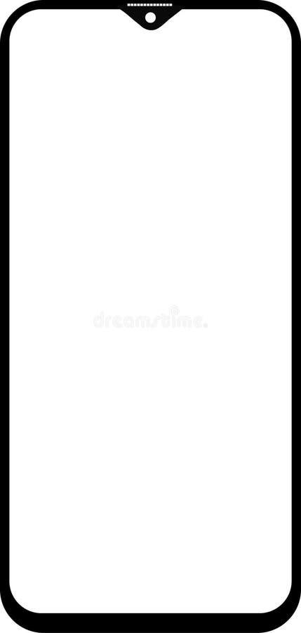 Móbil da galáxia m20 de Samsung do ícone ilustração stock