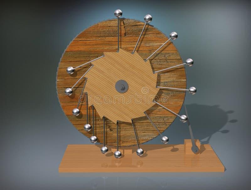 Móbil de Perpetuum Máquina do movimento perpétuo do ` s de Leonardo da Vinci fotos de stock royalty free