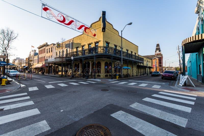 Móbil do centro histórico, Alabama durante um dia morno imagens de stock royalty free