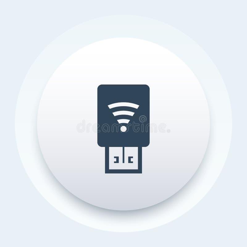 Módem del Usb con el icono de Wi-Fi libre illustration