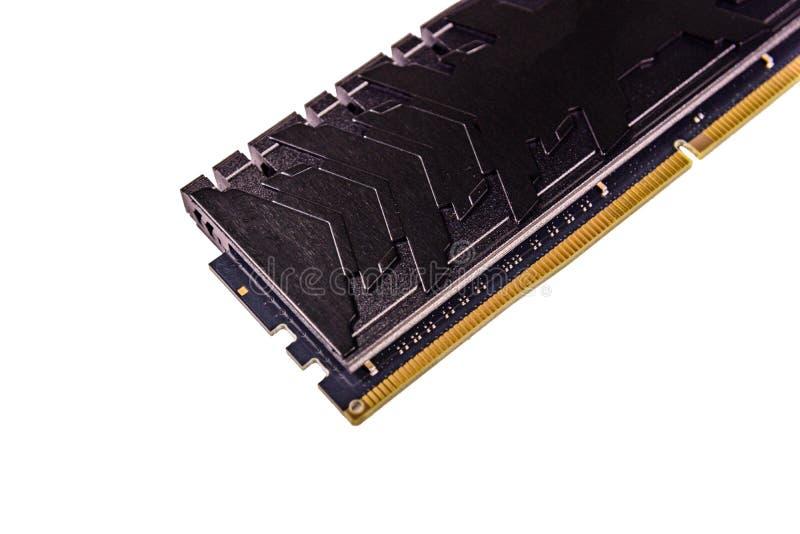 Módulo DDR4 moderno isolado em um fundo branco fotos de stock