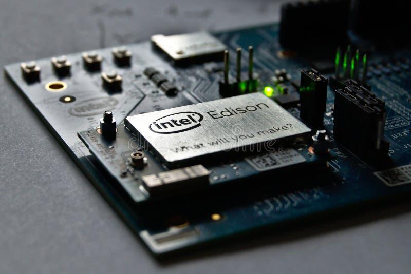 Módulo de Intel Edison foto de archivo libre de regalías