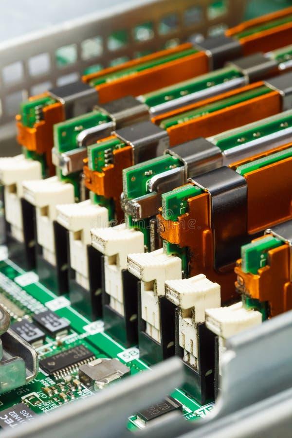 Módulo de la memoria en el cuadro de sistema, primer imagenes de archivo