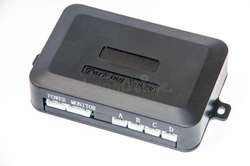 Módulo de los sensores del estacionamiento sobre el fondo blanco foto de archivo libre de regalías