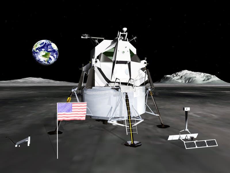 Módulo lunar stock de ilustración