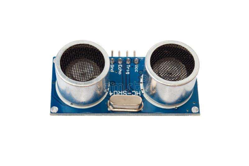 Módulo ultrassônico do sensor, equipamentos eletrônicos foto de stock