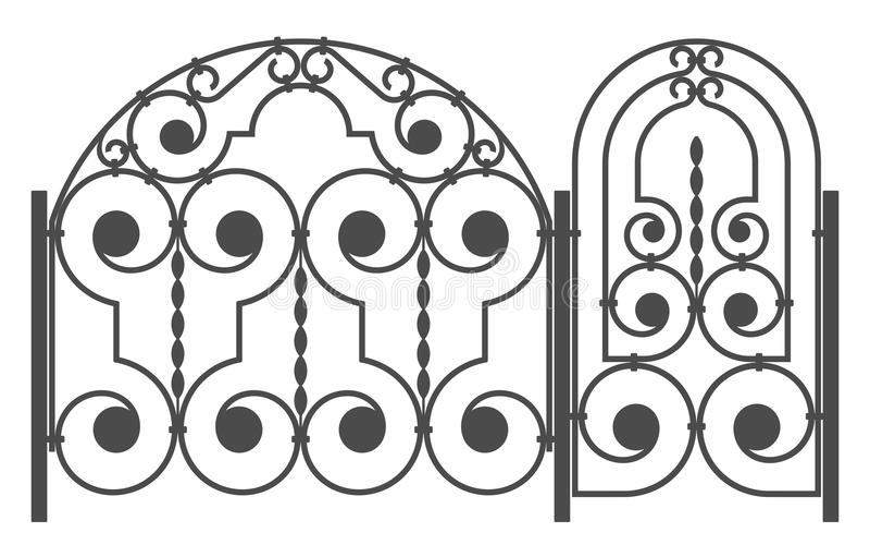 Módulos da cerca ilustração stock