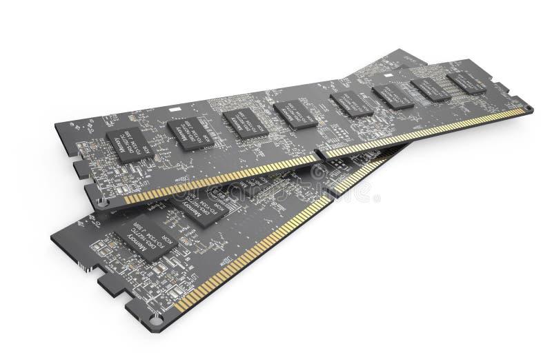 Módulos 6 da memória DDR3 ilustração royalty free