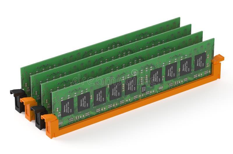 Módulos da memória DDR4 ilustração stock