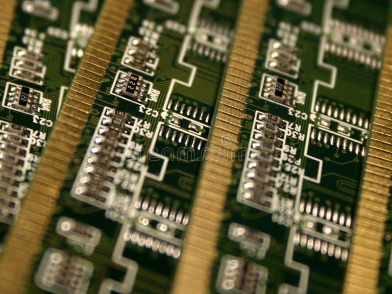 Módulos de la memoria de computadora III fotografía de archivo