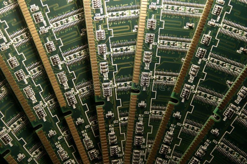 Módulos de la memoria de computadora V imagen de archivo