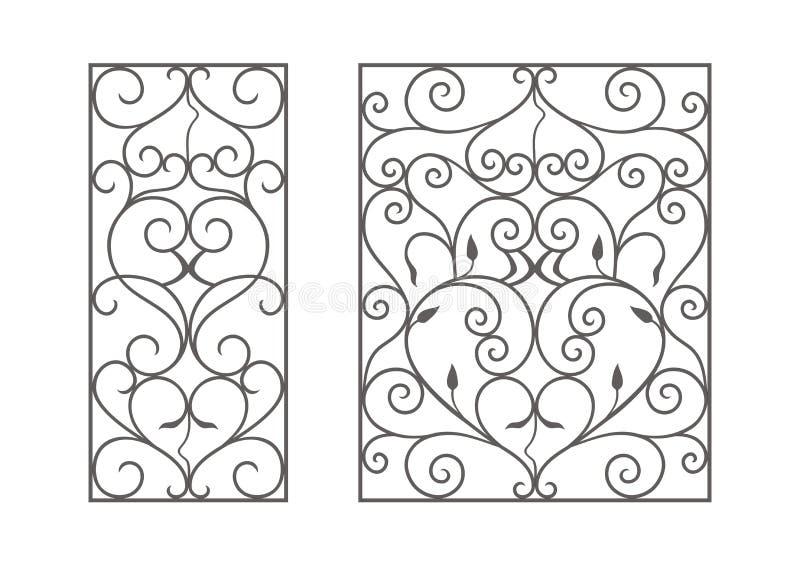 Módulos do ferro forjado ilustração stock