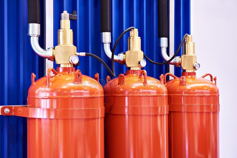 Módulos para extinguir do gás fotografia de stock royalty free