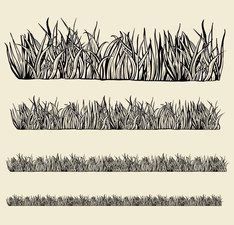 Módulos variáveis da grama. ilustração royalty free