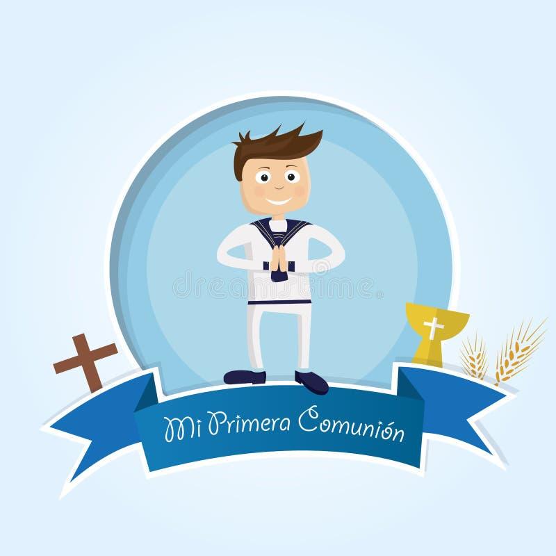 mój communion najpierw ilustracji
