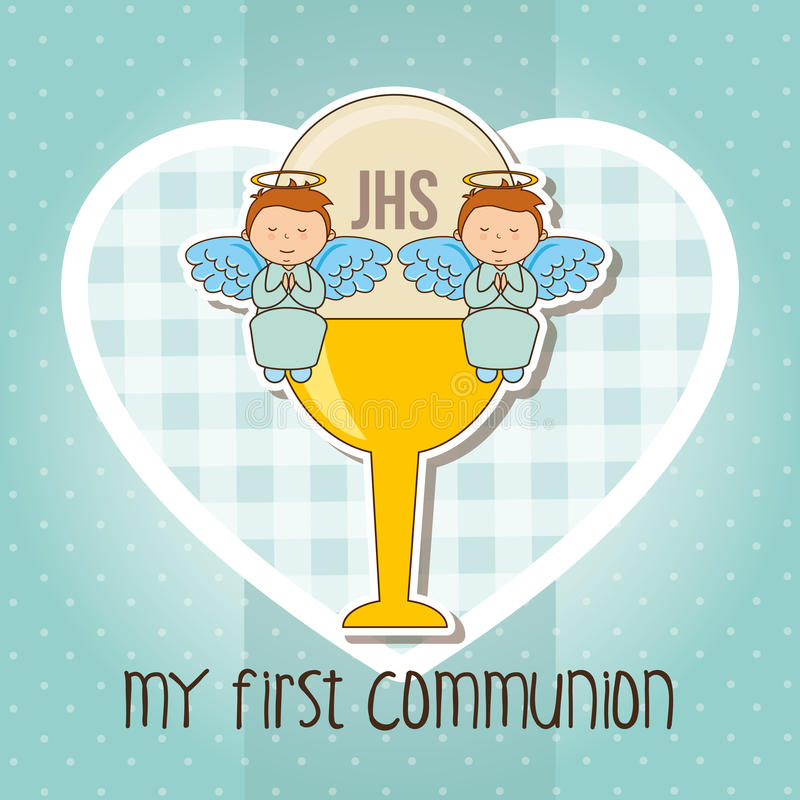 mój communion najpierw royalty ilustracja
