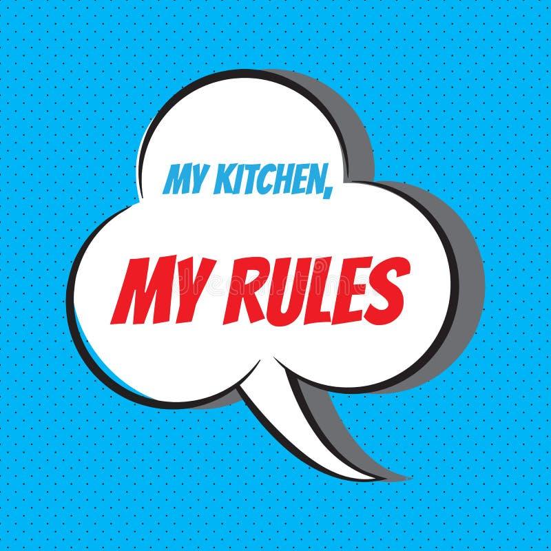 Mój kuchnia, mój reguły Motywacyjna i inspiracyjna wycena royalty ilustracja