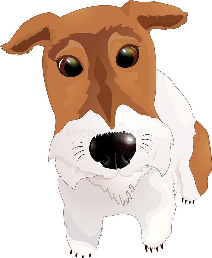 Mój lisa teriera pies ilustracja wektor