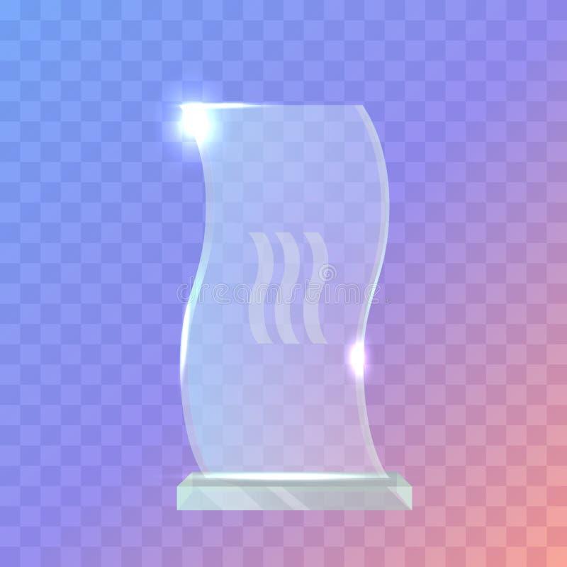 Mój Najlepszy trofeum Crystalic nagroda w Zaondulowanym kształcie royalty ilustracja