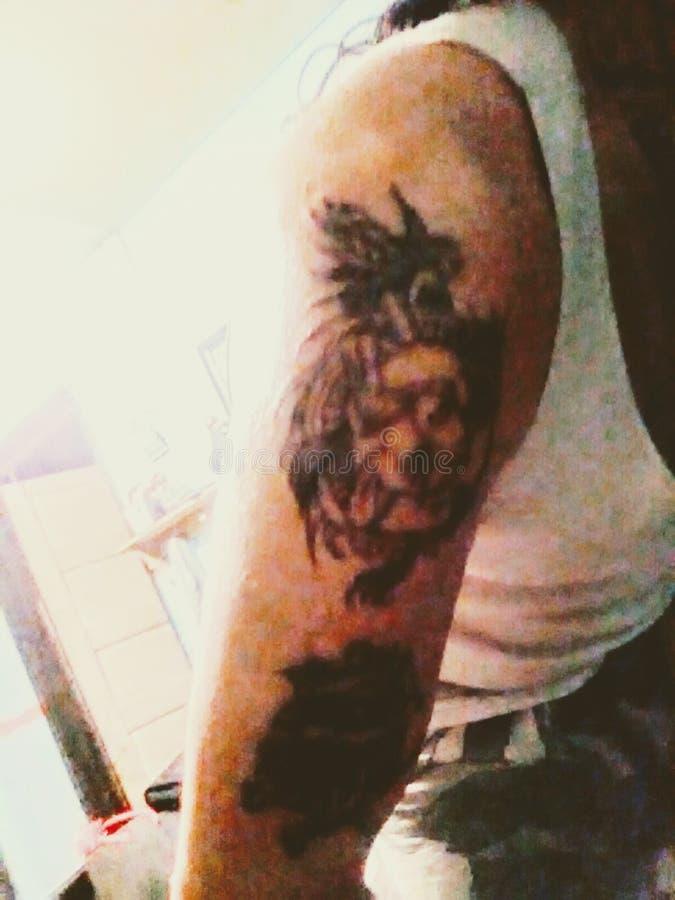 Mój najnowszy kontur tatuażu Awesome obraz royalty free