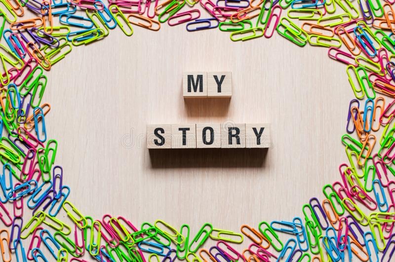 Mój opowieść formułuje pojęcie obrazy stock