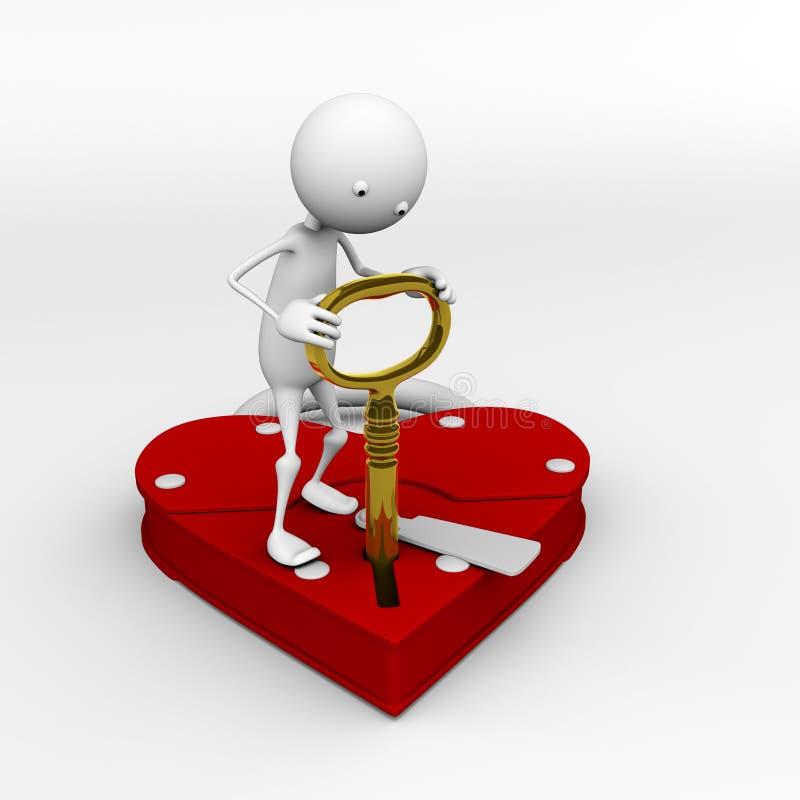 mój serce klucz royalty ilustracja