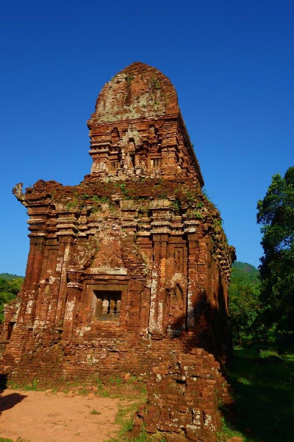 Mój syna sanktuarium, ruiny, Antyczne Hinduskie świątynie Cham kultura w Wietnam blisko miast Hoi i da nang i, zdjęcie stock