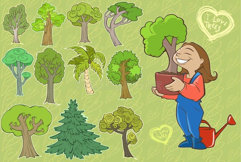 Mój ulubiony ogród ilustracja wektor