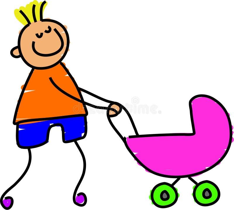 mój wózek siostry. royalty ilustracja