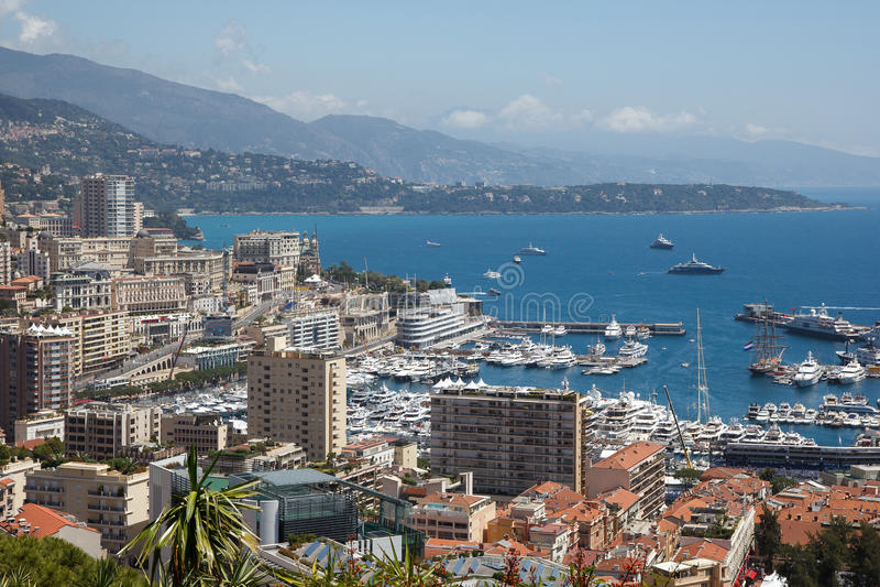 Mónaco, Le Rocher fotografía de archivo