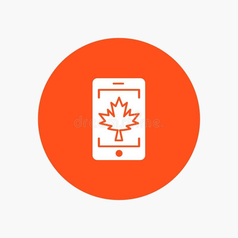 Móvil, célula, Canadá, hoja ilustración del vector