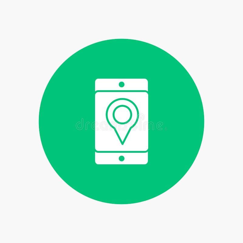 Móvil, célula, mapa, ubicación libre illustration