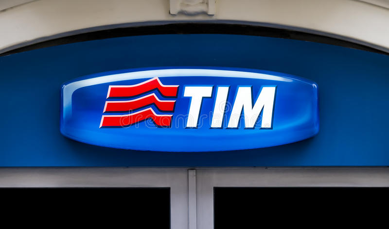 Móvil de Telecom Italia foto de archivo