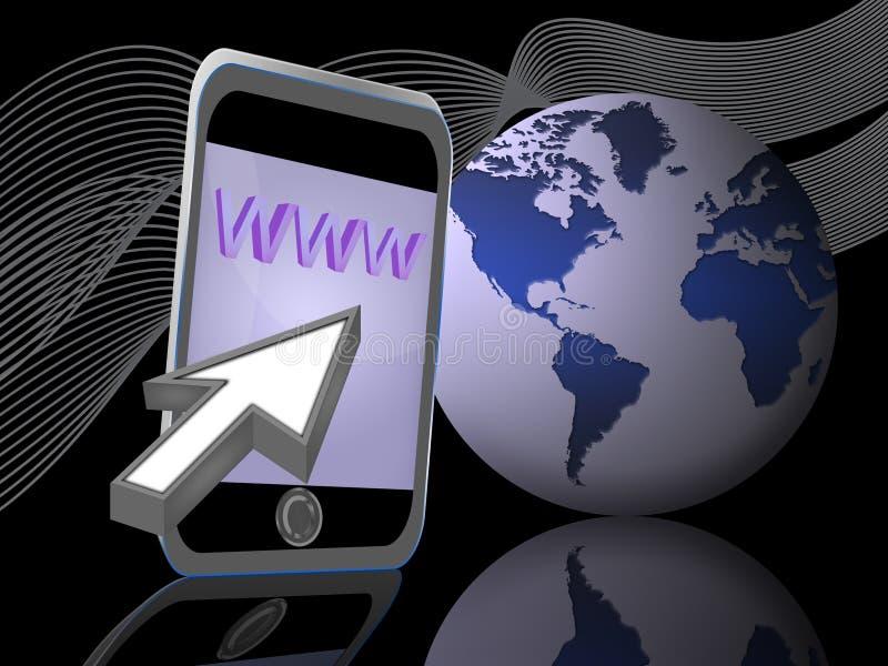 Móvil del Internet (02) ilustración del vector