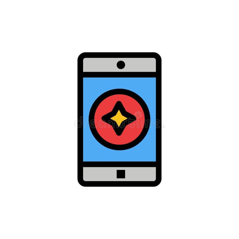 Móvil preferido, móvil, icono plano del color de la aplicación móvil Plantilla de la bandera del icono del vector ilustración del vector
