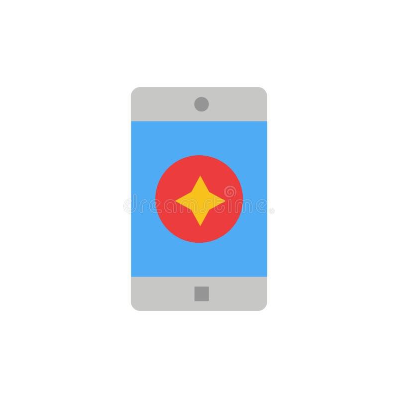 Móvil preferido, móvil, icono plano del color de la aplicación móvil Plantilla de la bandera del icono del vector libre illustration