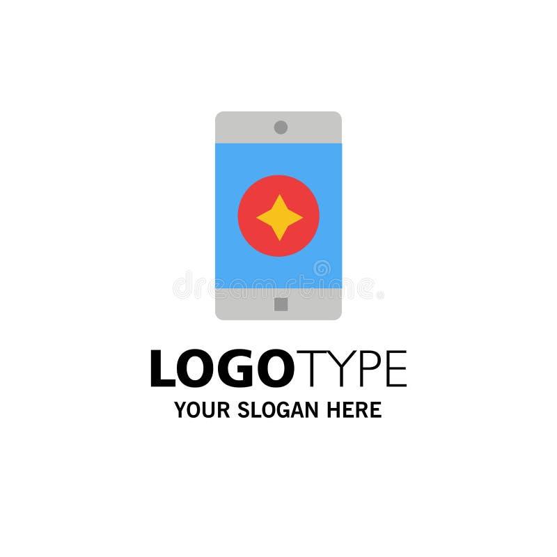 Móvil preferido, móvil, negocio Logo Template de la aplicación móvil color plano stock de ilustración