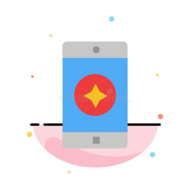 Móvil preferido, móvil, plantilla plana del icono del color del extracto de la aplicación móvil libre illustration