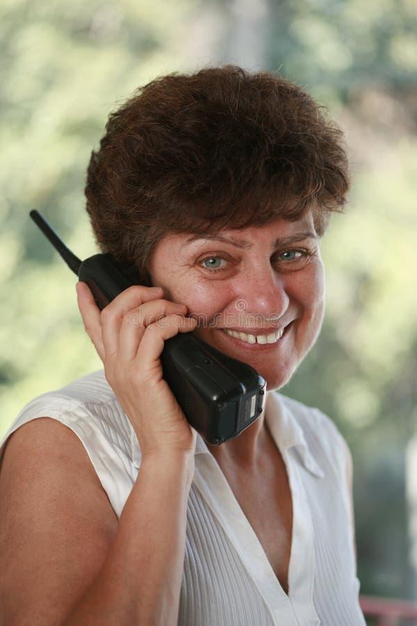mów telefonu kobiety obraz stock